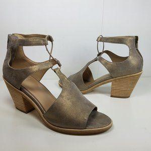 Eileen Fisher Sandals Lou platinum leather heel